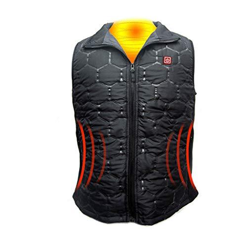 [해외]Heated Vest for Men and Women Mosunx Waterproof Electric Warmer Vest Rechargeable Built-in Heating Pads USB Charging for Outdoor Motorcycle Riding Golf Hunting (Black Medium) / Heated Vest for Men and Women, Mosunx Waterproof Elect...