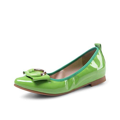 Zapatos Mujer Primavera/rollo de huevo cabeza superficial/Final de zapatas antideslizantes de carne C