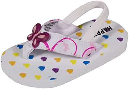 f0e3acbbbce531 Soda Kid s Girly Fly-2Q Thong Elastic Slingback Flat Baby Sandals in White  Butterfly EVA
