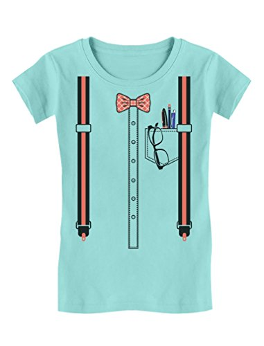 TeeStars - Halloween Nerd Geek Easy Costume Toddler/Kids Girls' Fitted T-Shirt 5/6 Chill (Geek Girl Costumes For Halloween)