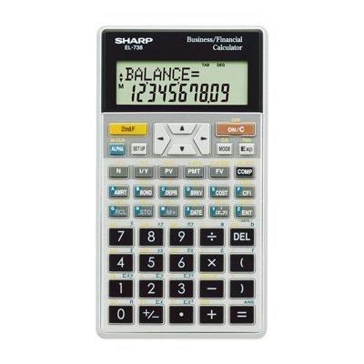 Sharp Electronics el738fb Amortization Financial Calc