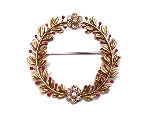 day Mistletoe Wreath Pin/Brooch for Silver Seasons (Ours Exclusively)… ()
