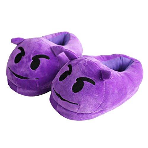 Ama (tm) Vrouwen Zachte Pluche Warme Winter Indoor Pantoffels Schoenen Paars