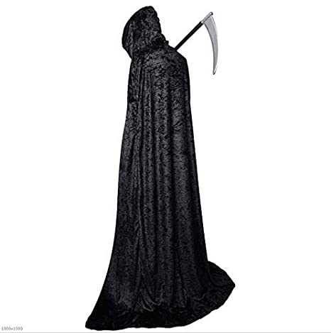 Disfraz De Terciopelo De Halloween Capa Negra Ropa De ...