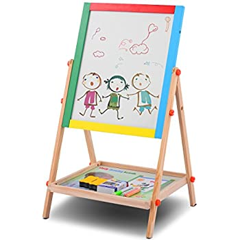 Amazon Com Step2 All Around Easel For Two Red Yellow Tan