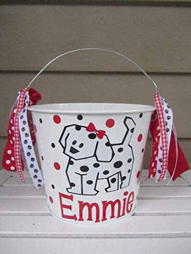 Personalized Halloween trick or treat bucket - Dalmatian design to match your child's costume]()
