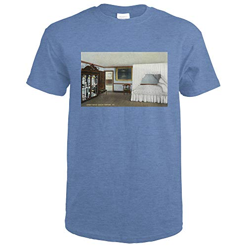 Mount Vernon, Virginia - Interior View of the Estate, the Green Room 25689 (Heather Royal T-Shirt XX-Large)