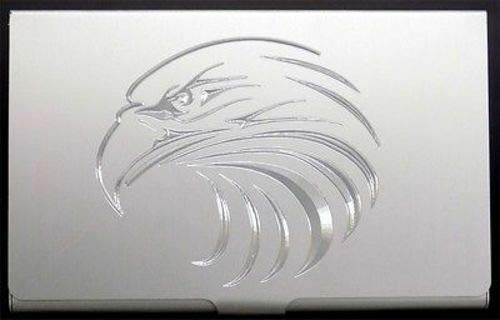 (Eagle Head Bald Engraved Business Credit Card Case Patch Holder Gift BUS-0049 )