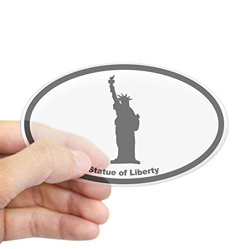 (CafePress Statue of Liberty Silhouette Oval Sticker Oval Bumper Sticker, Euro Oval Car)