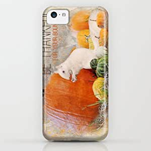 Society6 - Lucky The White Squirrel Be Thankful This Thanksgi¡­ iPhone & iPod Case by Jai Johnson