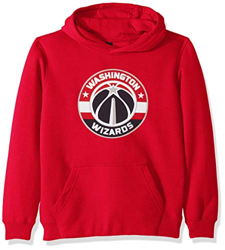 NBA by Outerstuff NBA Youth Boys Washington Wizards Primary Logo Classic Hoodie, Red, Youth Large(14-16)