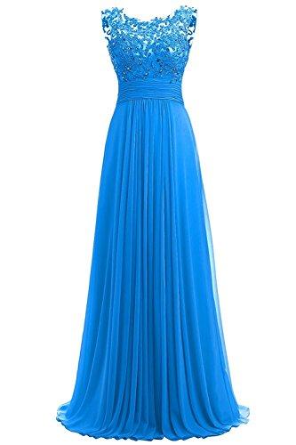 PROMLINK Women's Beaded Chiffon Long Dresses for Gown Wedding Guest Ocean ()
