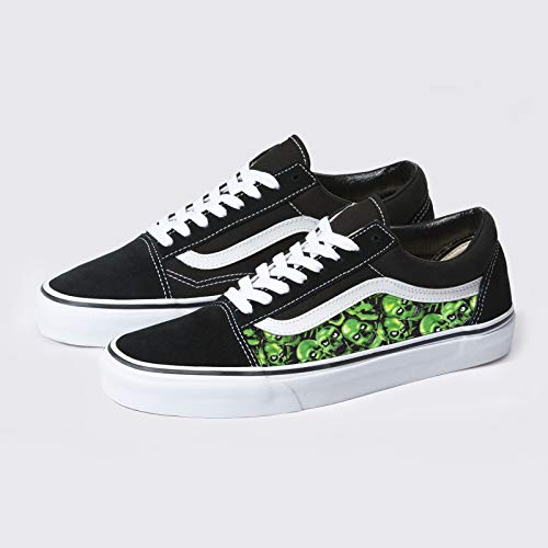 Vans Old Skool x Green Skulls Custom Handmade Shoes By Patch Collection