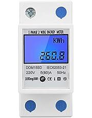 Elektrische Digitale Meter Thuis Energiemeter Eenfase Din Rail Type Energiemeter Kwh LCD Digitale Kilowattuur Backlight