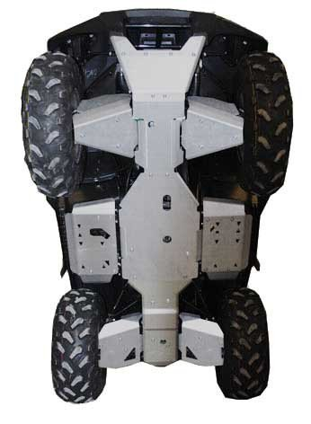 Kawasaki Brute Force 750 / 650i Aluminum 9 Piece Skid Plate by Ricochet Set For 2005, 2006, 2007 Models