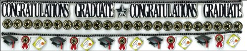 Jolee's Boutique Dimensional Border Stickers, Graduation