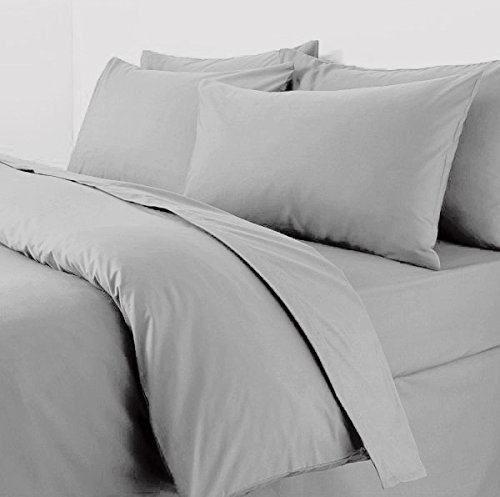 Plain Duvet Cover With Pillow Cases Non Iron Percale Quilt Cover