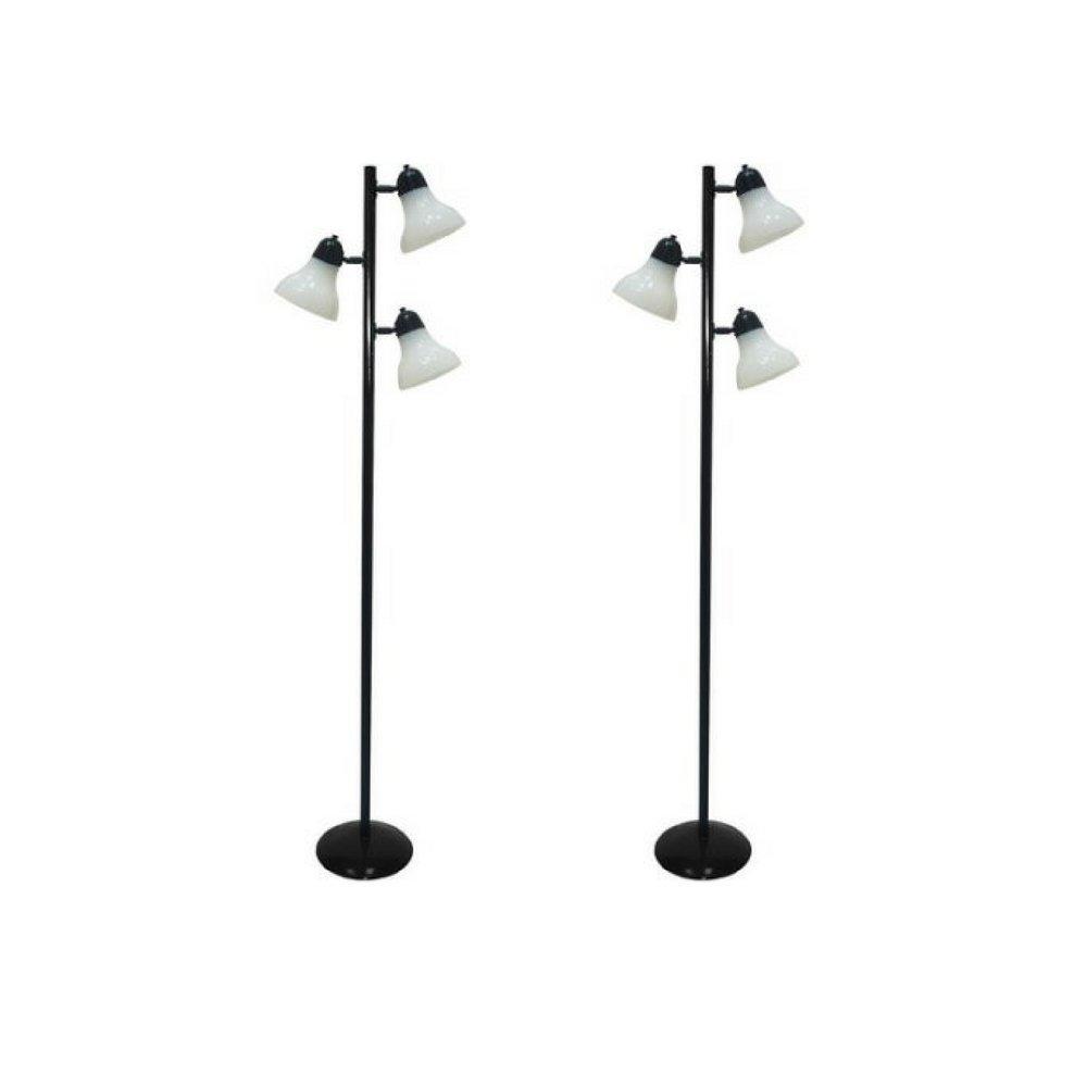 64'' Durability, Track Tree Floor Lamp, Black (2)