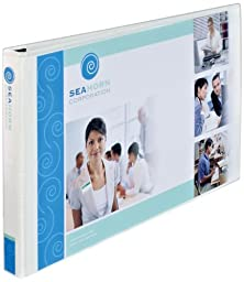 Avery Heavy-Duty View Binder, White with 1.5-Inch Three Booster Slant Rings, Fits 11x 17 paper, 1 Binder, White (72125)