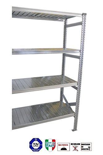 Scaffalature Metalliche Roma.Modulo Continuativo Scaffale Mis 250hx150x60prof