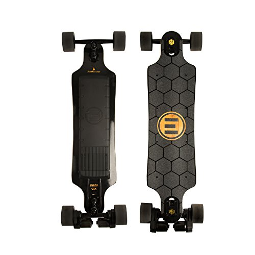 Evolve Skateboards – Bamboo GTX Street Electric Longboard Skateboard – 31 Mile Range – 26 mph Top Speed –Digital LCD Screen Remote Control – Lithium-Ion Battery