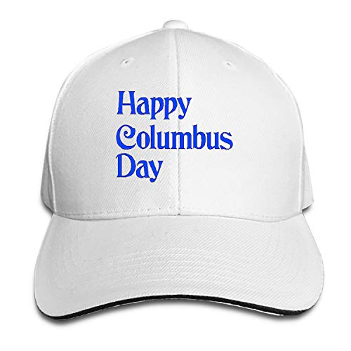Clip Twill (iloue Columbus Day Clip Unisex Washed Twill Baseball Cap Adjustable Peaked Sandwich Hat)