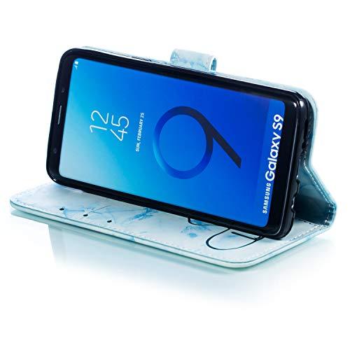 kickstand Marmo Pelle Modello Pu Custodia Per Blu Protettiva Samsung Flip S9 slot marmo In Con verde Ukayfe Amare Galaxy Cover Schede Compatibile Case chiusura Magnetica marmo Z6q8znwOx