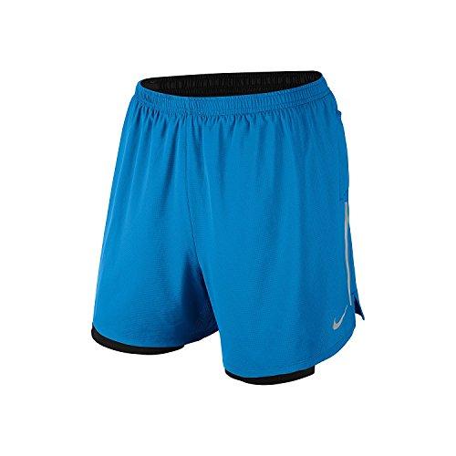 Nike Men's7 Phenom 2 in 1 Running Short (X-Small) Blue