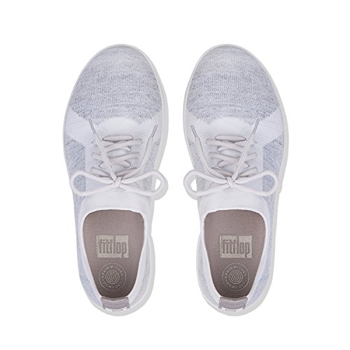 F Silver 567 Metallic White Multicolor FitFlop Sporty Uberknit Urban Sneakers ZYYqPxw