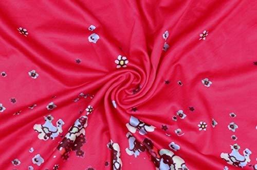 Pieghettata A Rossa Lunga Mini Manica Partito Svasato Sera Rosa Di Stampata Vestito Da Jaycargogo Maglia 5Cwx6nSX
