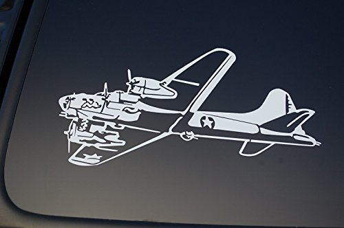 B-17 Bomber Flying Fortress Vinyl Sticker Decal (V218) War Bird Plane Military (8