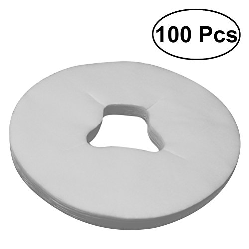 ROSENICE 100pcs Disposable Massage Face Cradle Cover - Breathing Non-Woven Face Cushion Covers Headrest Cradle Sheet