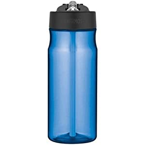 Thermos HP4040BLTRI6 18 Oz Blue Hydration Water Bottle With Built In Straw