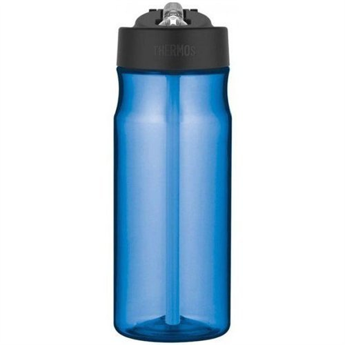 Thermos Intak Hydration Bottle is made from BPA free, impact- resistant, dishwasher durable Eastman Tritan copolyester. It has a locking leak-proof lid with one-hand push button operation.