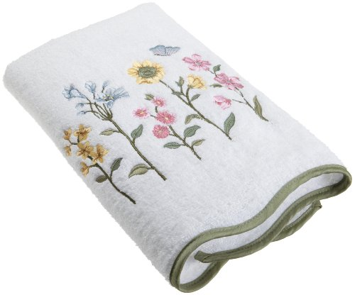 Avanti Linens Premier Country Floral Bath Towel, White (Floral Bath Towels)