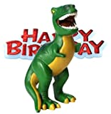 Dinosaur Resin Cake Topper & Happy Birthday Sign