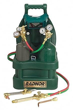 Radnor Victor estilo Tote Light-duty acetileno soldadura, soldadura y corte Outfit con cilindro