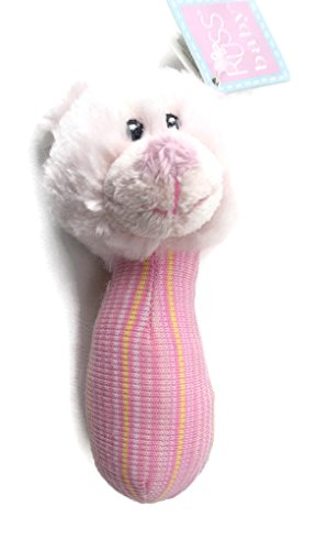 (Russ Baby Plush Teddy Bear Rattle Pink)