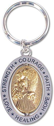 AngelStar Hope/Courage/Strength/Love/Healing/Faith Angel Key Chain, Silver ()