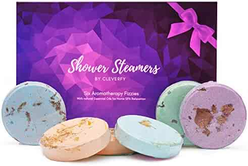 Cleverfy Shower Bombs Aromatherapy Gifts For Women - [6x] Shower Steamers With Essential Oils For Stress Relief | Great Gift For Mom Or As Spa Gifts For Women | Birthday Gifts For Women