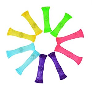 FIDGET TOYS(Package of 10, 5 colors) Stress Relieve toy, Focus Enhance, Soothing Marble Fidgets for Children and Adults, has helped with ADHD ADD OCD Autism, Depressions and Anxiety disorders