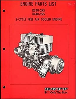RUPP SNOWMOBILE KOHLER ENGINE PARTS MANUAL K340-2RS & K440-2RS MINT