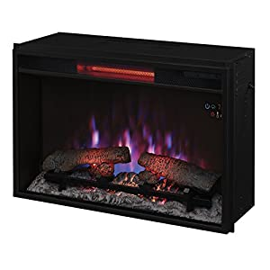"ClassicFlame 26II310GRA 26"" Infrared Quartz Fireplace Insert with Safer Plug"