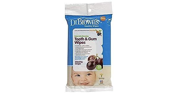 Dr. Browns dientes y encías toallitas, - 2 Paquetes De 30 Count=60 toallitas: Amazon.es: Bebé