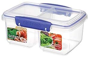 Sistema Klip It Medium Split Klip It Food Storage Container, Clear