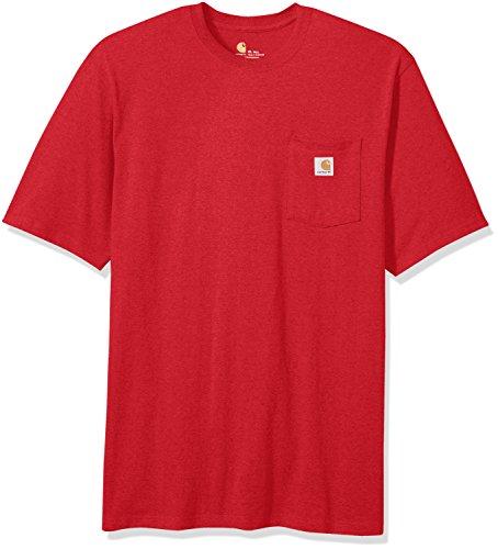 Carhartt Men's Big & Tall Workwear Pocket Short-Sleeve T-Shirt, red Heather, Large -