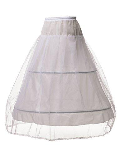Topwedding Remedios 2 Hoop Womens Half Slip A Line Bridal Petticoat Underskirt