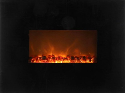 Dream Flame Wall Mount Linear Electric Fireplace Size: 58