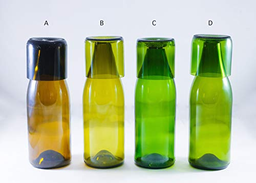 RECYCLED WINE BOTTLE Carafe Water Flask- Jug Set with 8 oz Glasses ()
