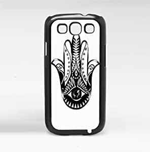 Black and White Evil Eye Hand of Mary Hard Snap on Phone Case (Galaxy s3 III)